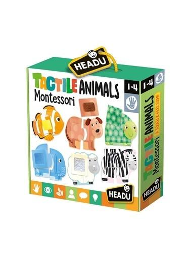 Headu  Montessori Dokunsal Hayvanlar Oyunu 1-4 Renkli